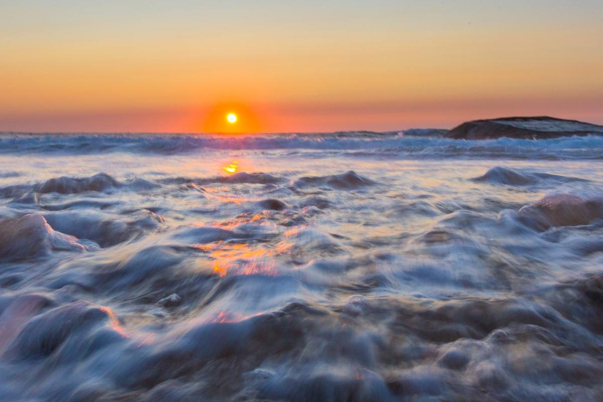 Visuel coucher de soleil océan, elleOZ